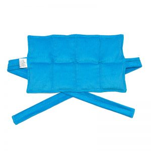 aqua eight panel heat bag with ties for sale at heatbags plus