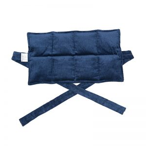 navy blue eight panel heat bag with ties for sale at heatbags plus