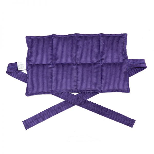 purple eight panel heat bag with ties for sale at heatbags plus