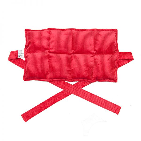 red eight panel heat bag with ties for sale at heatbags plus