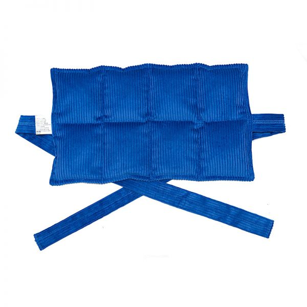 royal blue eight panel heat bag with ties for sale at heatbags plus