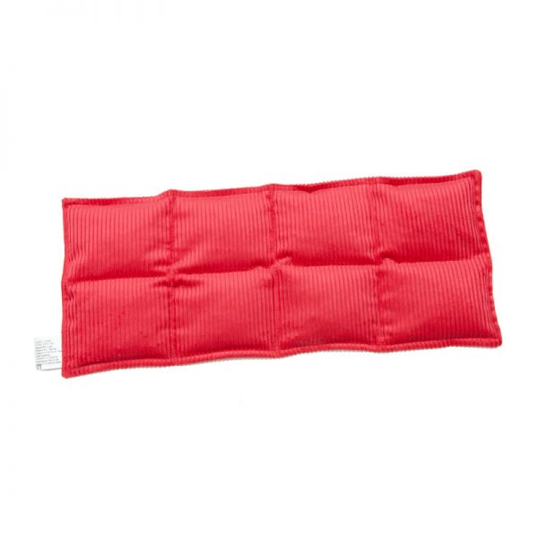 red eight panel lumbar and thigh heat bag for sale at heatbags plus