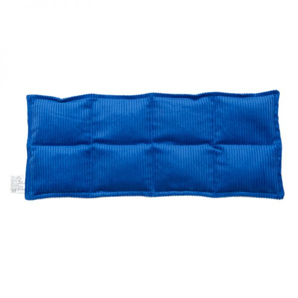 royal blue eight panel lumbar and thigh heat bag for sale at heatbags plus