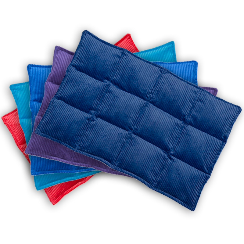 Heat Bags Plus, Heat bag Colours available include red, navy blue, royal blue, purple and aqua.